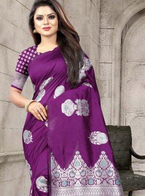Weaving Art Silk Classic Designer Saree