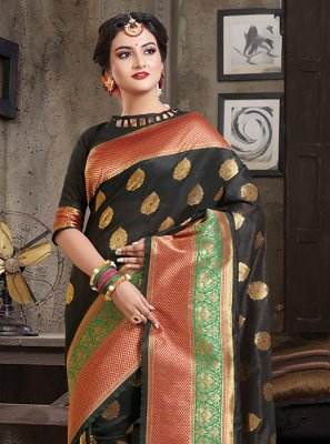 Weaving Art Silk Designer Traditional Saree