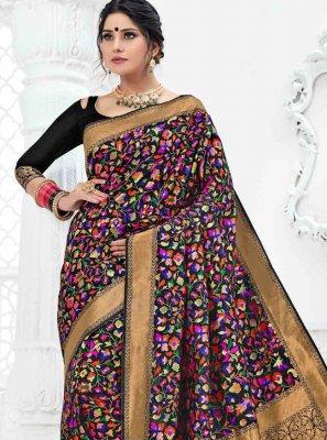 Weaving Art Silk Multi Colour Classic Designer Saree