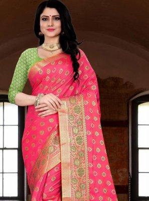 Weaving Banarasi Silk Trendy Saree