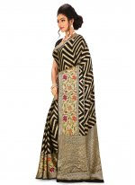 Weaving Black Classic Saree