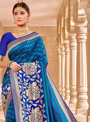 Weaving Blue Classic Saree