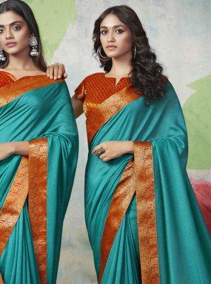 Weaving Blue Designer Traditional Saree
