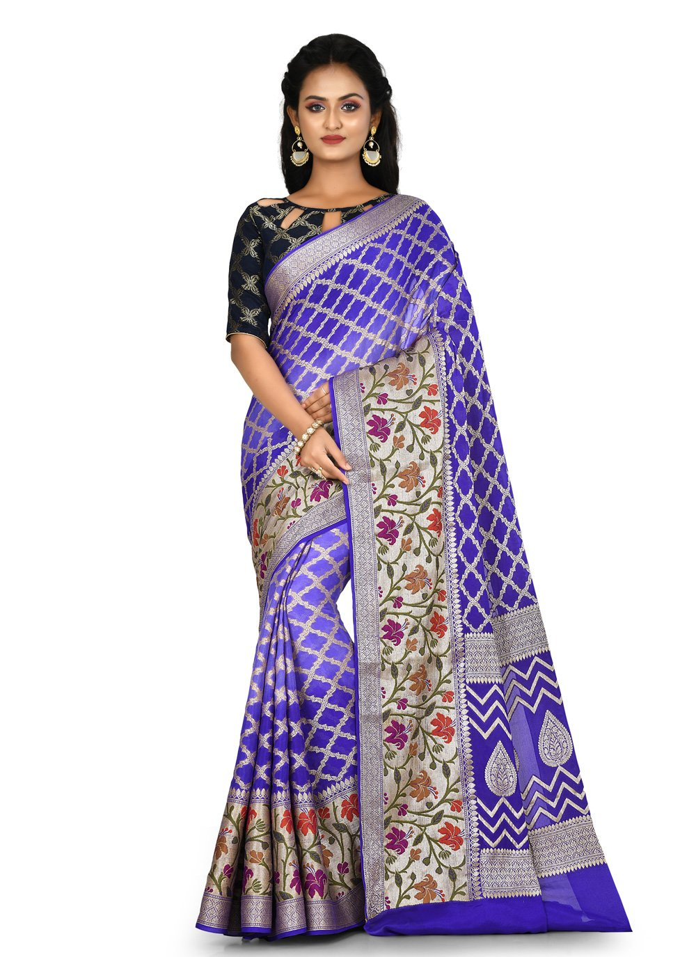 Weaving Blue Trendy Saree