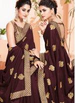 Weaving Brown Classic Saree