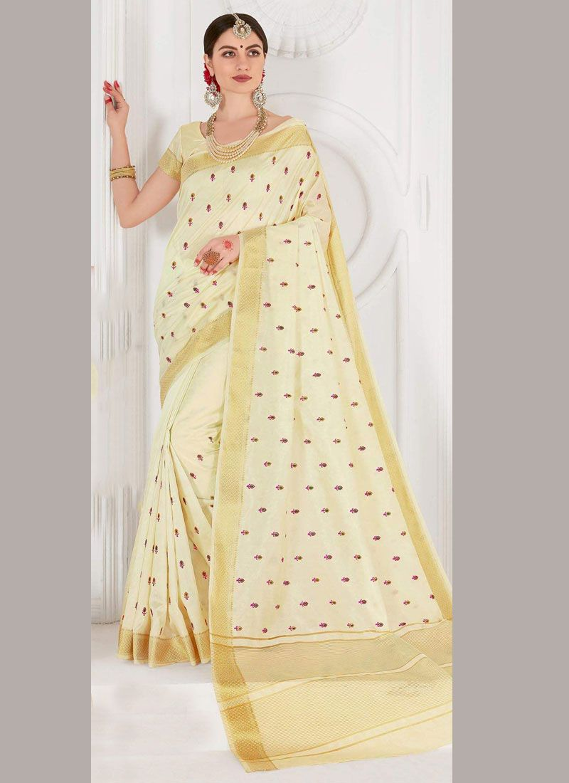 Weaving Ceremonial Trendy Saree