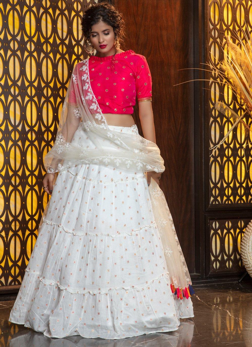 Weaving Cotton Bollywood Lehenga Choli