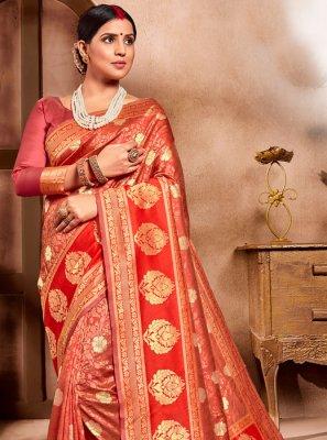 Weaving Cotton Silk Casual Saree
