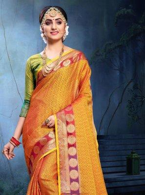 Weaving Cotton Silk Saree