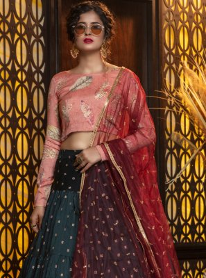Weaving Cotton Trendy Lehenga Choli