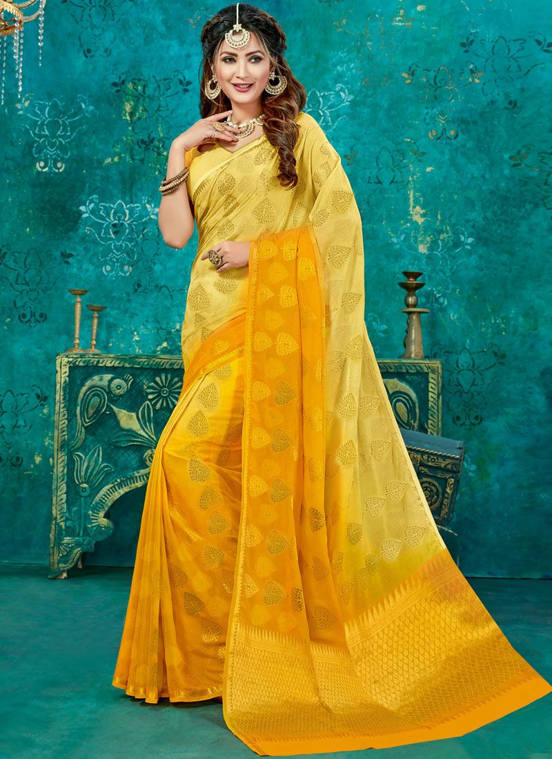 Weaving Crepe Silk Designer Traditional Saree
