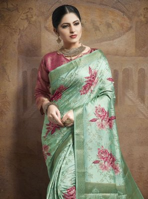 Weaving Green Bollywood Saree