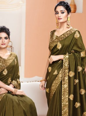 Weaving Green Contemporary Saree