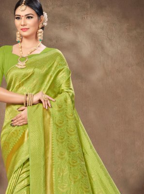Weaving Green Trendy Saree
