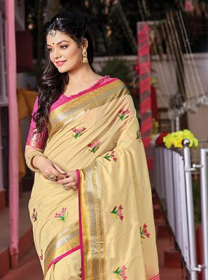 Weaving Handloom Cotton Trendy Saree