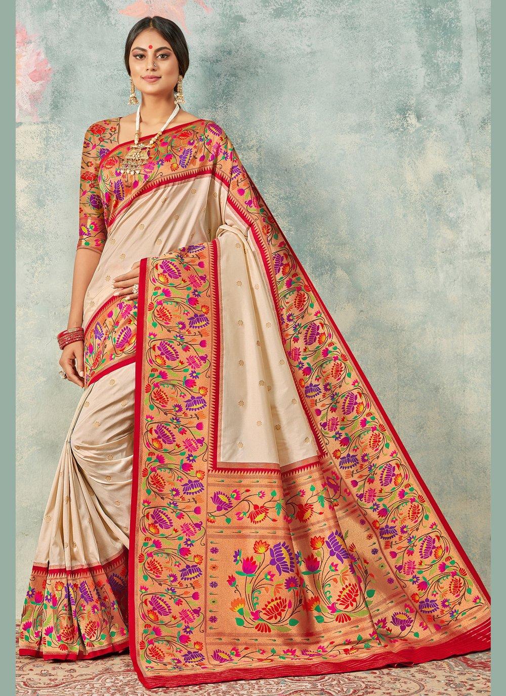 Weaving Handloom silk Trendy Saree