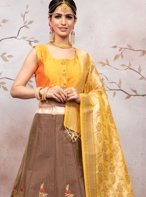 Weaving Jacquard Designer Lehenga Choli