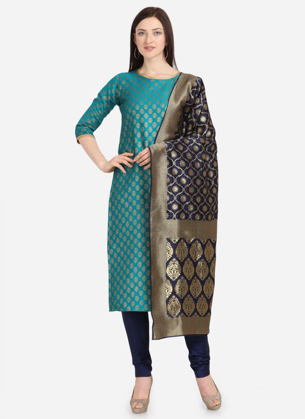 Weaving Jacquard Salwar Kameez