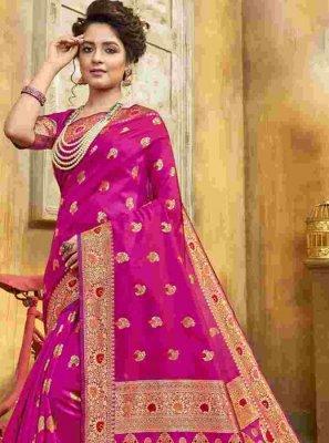 Weaving Jacquard Silk Classic Saree