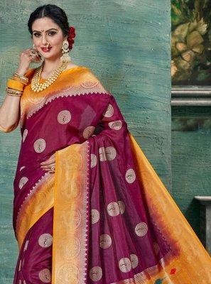 Weaving Magenta Classic Saree