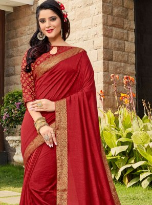Weaving Maroon Designer Traditional Saree