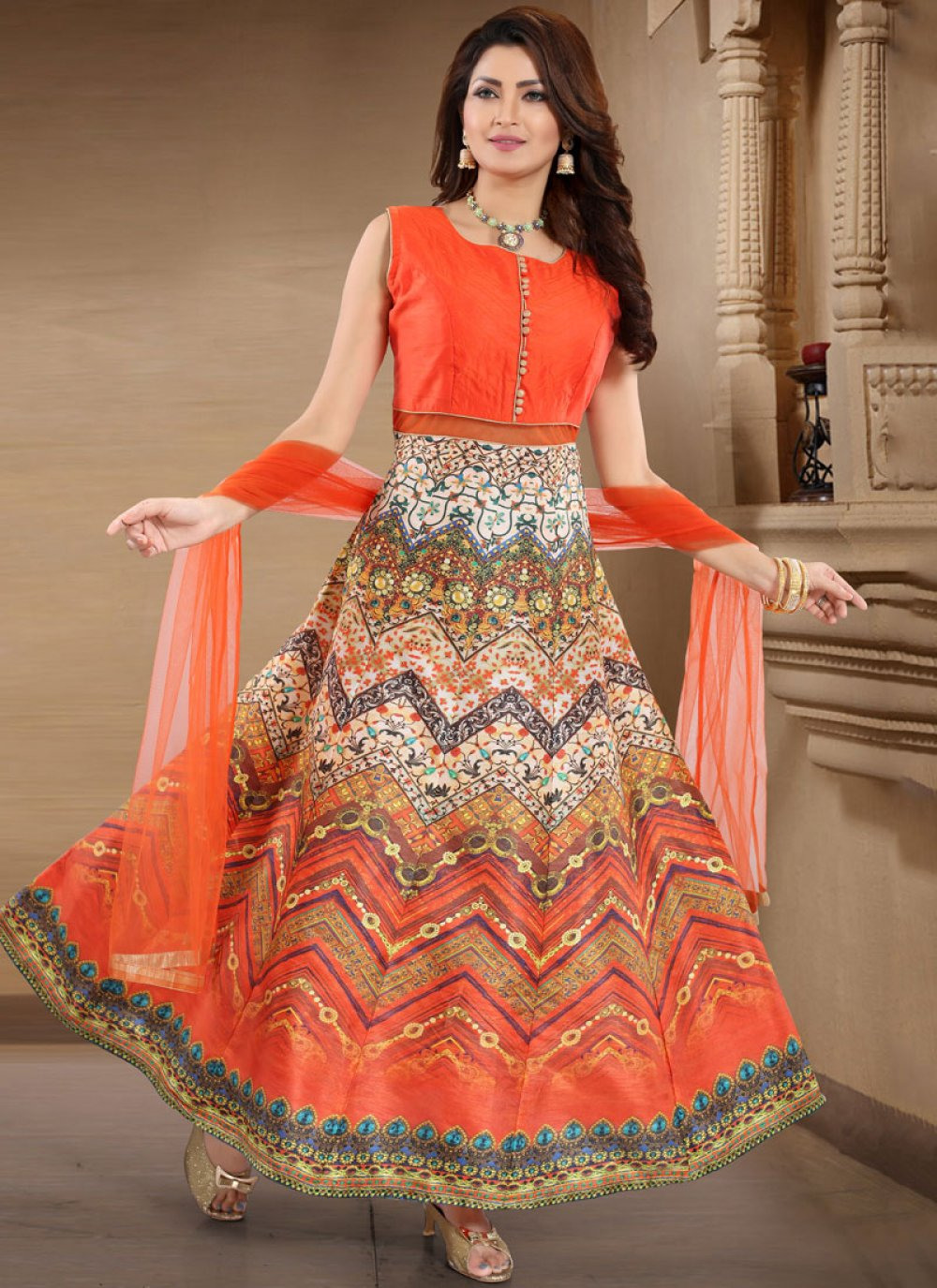 Weaving Multi Colour Banglori Silk Designer Salwar Kameez