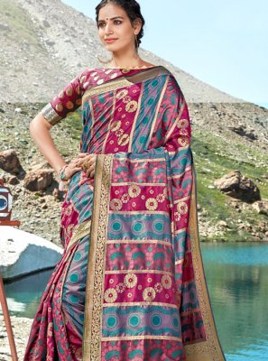 Weaving Multi Colour Classic Saree