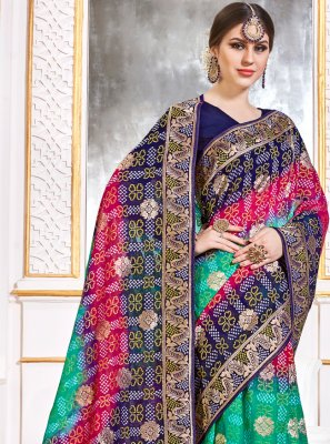 Weaving Multi Colour Contemporary Saree