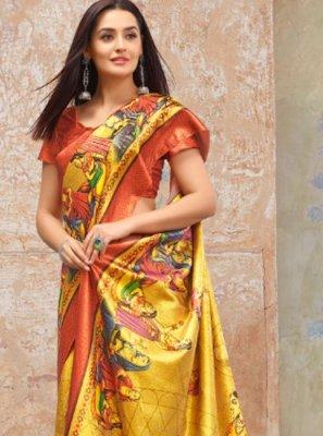 Weaving Multi Colour Silk Silk Saree