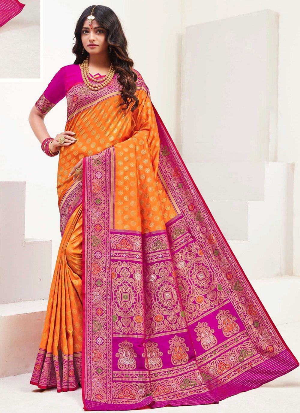Weaving Party Contemporary Saree