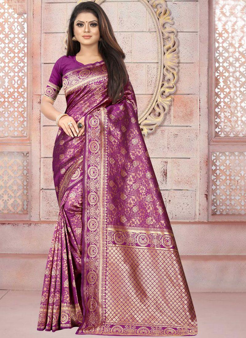 Weaving Party Silk Saree