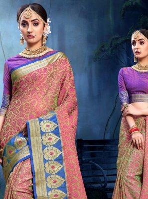 Weaving Pink Saree
