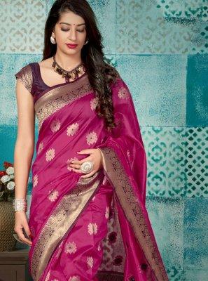 Weaving Purple Classic Designer Saree