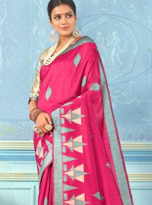 Weaving Rani Bhagalpuri Silk Designer Traditional Saree