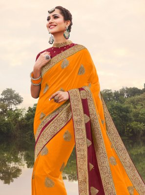 Weaving Reception Traditional Designer Saree