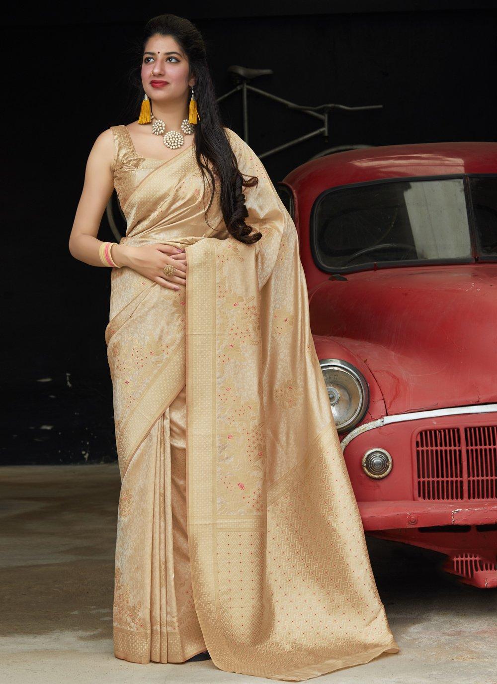Weaving Reception Traditional Designer Saree