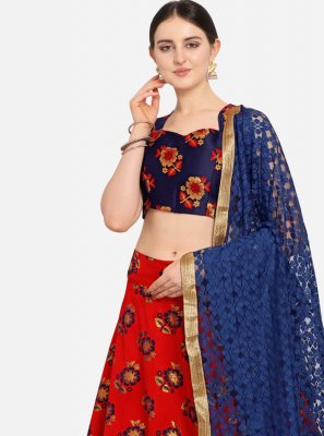 Weaving Red Jacquard Designer Lehenga Choli