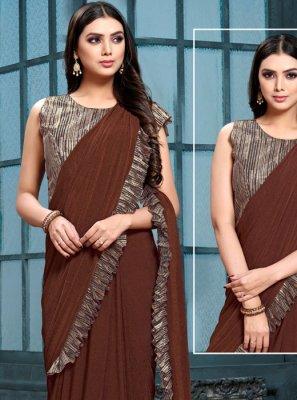 Weaving Satin Silk Lehenga Saree