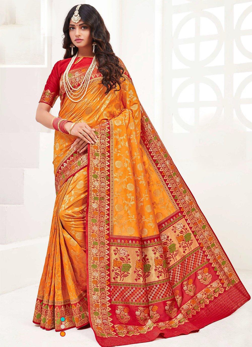 Weaving Silk Contemporary Saree