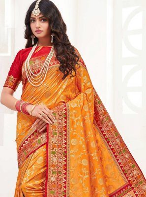 Weaving Silk Contemporary Saree
