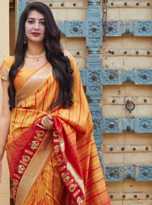 Weaving Silk Designer Contemporary Saree