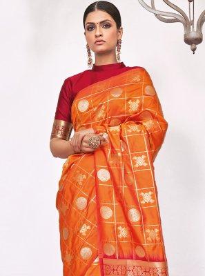 Weaving Silk Designer Saree