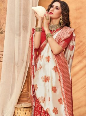 Weaving Silk Multi Colour Classic Saree