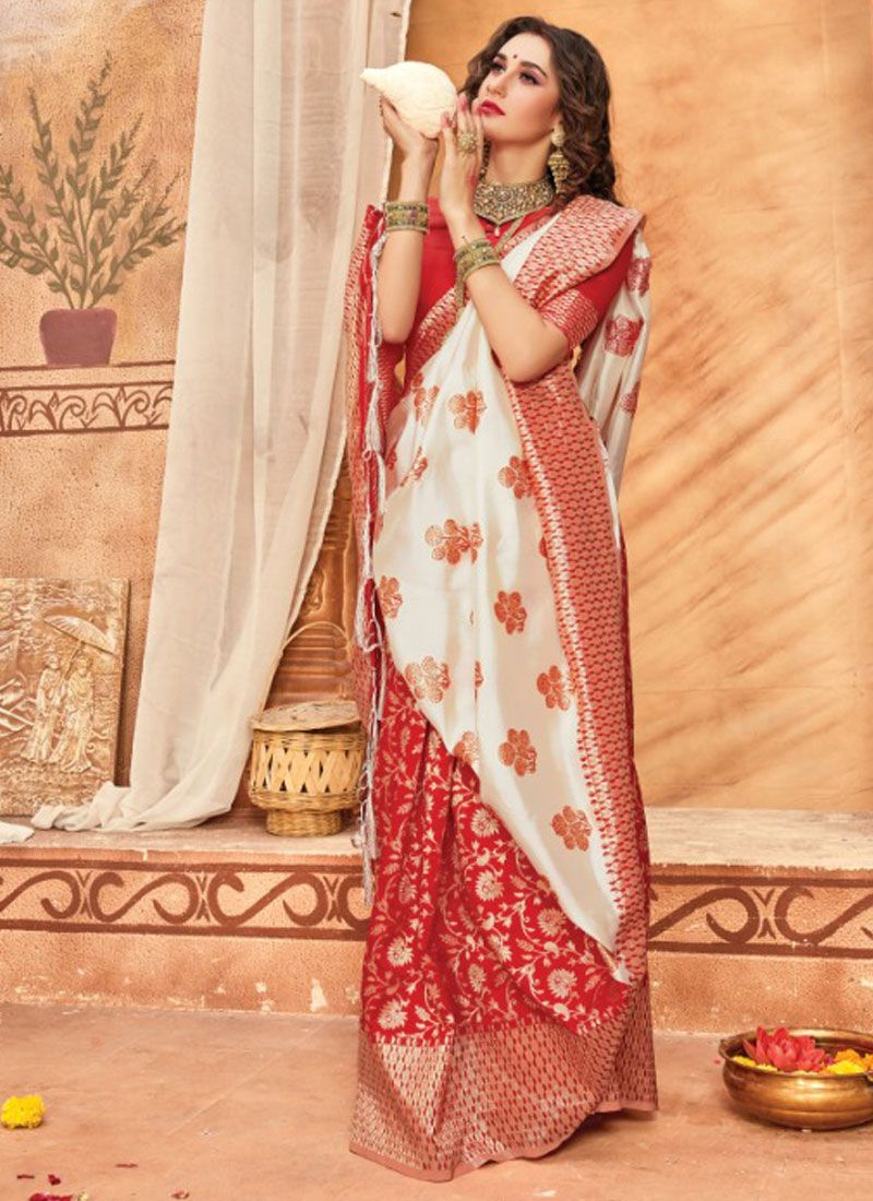 Weaving Silk Multi Colour Classic Saree