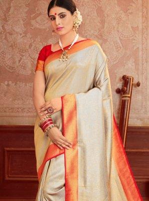 Weaving Silk Silk Saree