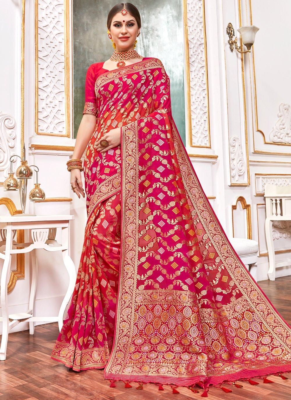 Weaving Viscose Contemporary Style Saree in Multi Colour