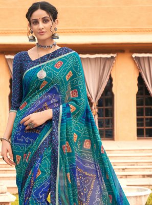 Weight Less Party Printed Saree