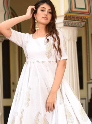 White Festival Trendy Palazzo Suit