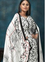 White Festival Trendy Salwar Suit
