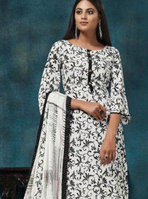 White Festival Trendy Salwar Suit